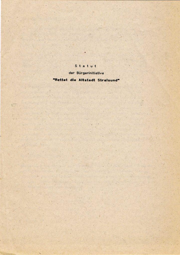 Titelseite des Statuts der Bürgerinitiative